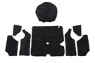 Midget Trunk carpet set black 75-79