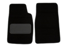 Midget Carpet floor mats, pair black