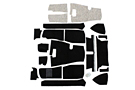 MGB Deluxe Carpet set, Black 68-80