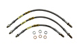 MGB Stainless steel brake hose set 62-80