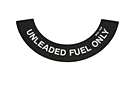 MG Midget Unleaded fuel decal 75-79